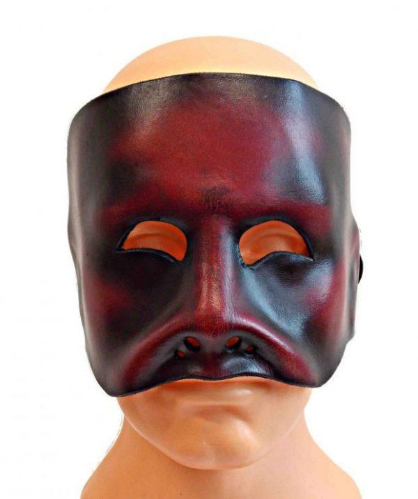 Kožená maska na tvár