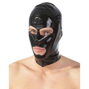 Latexová maska otvorené oči a ústa